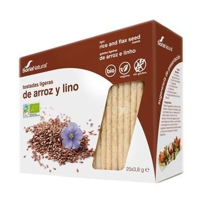 Tostadas ligeras de Arroz y Lino