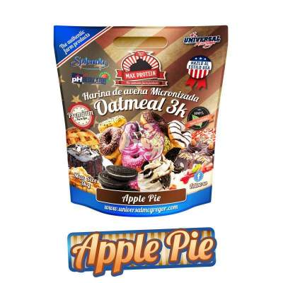 HARINA DE AVENA SABOR APPLE PIE 3KG