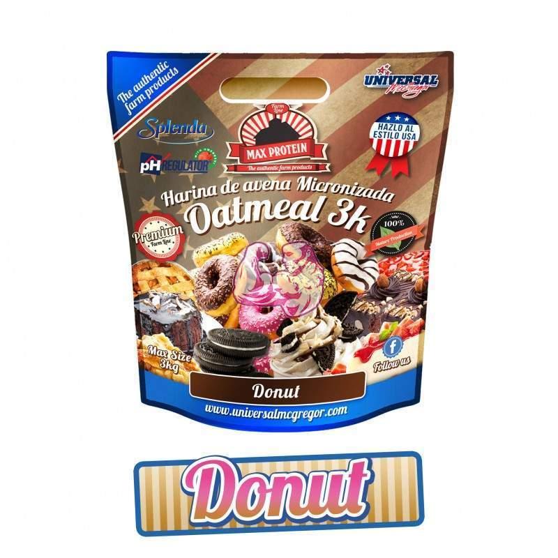 Harina de avena sabor donut 3 kg nutricion eapa - Cocinar harina de avena ...