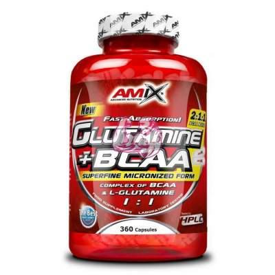 Glutamine + BCAA Capsules 360 caps.